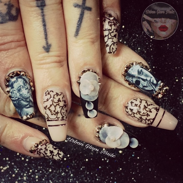 10 drop day of the dead nail art designs nails magazine via nail art gallery prinsesfo Images