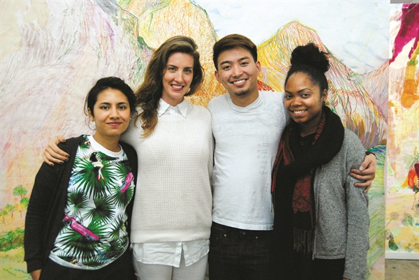 <p>From left: Fariha Ali, Rose Theodora, Tommy Nguyen, and Olina Bishop.</p>