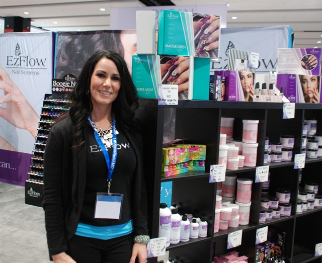 EZ Flow's Allison Ross says their colored acrylics for pink-and-whites continue to be a huge seller.