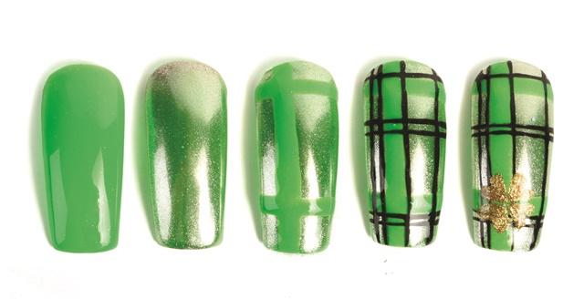Nail Art Studio Gold Clover Style Nails Magazine