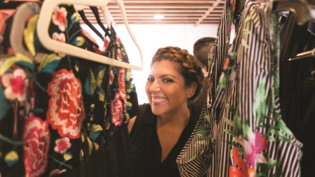 <p>The clothing rack is one of my favorite spots on-set.</p>