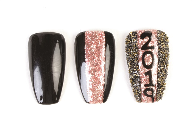 Putting On The Glitz Holiday Nail Art Designs Style Nails Magazine