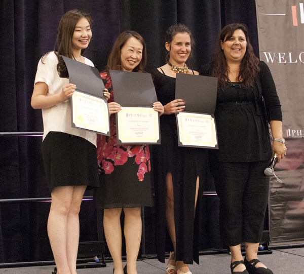 <p>Judges (from left to right): Yumi Nagashima, Myung Hee Park, Roberta Giametti, and Lysa Comfort </p>