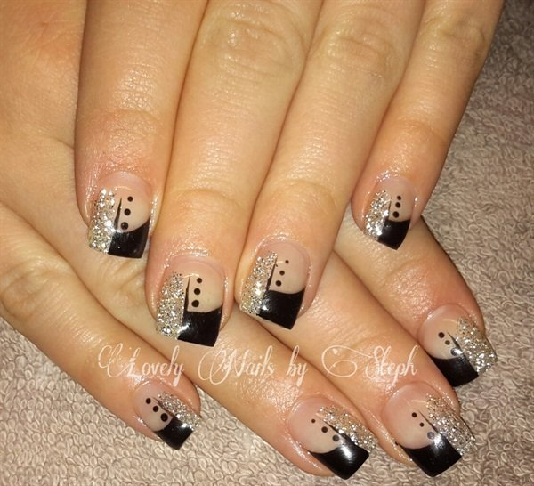 Day 100 black silver nail art nails magazine prinsesfo Gallery