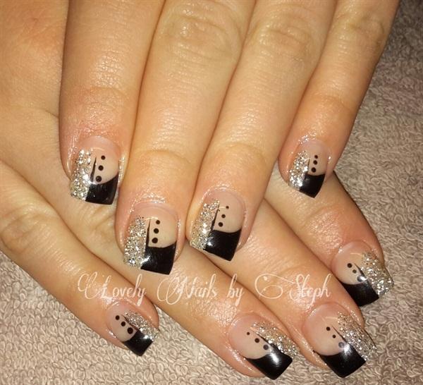 Day 100 Black Silver Nail Art Nails Magazine
