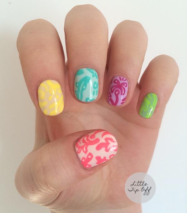 Q Riouser Q Riouser Nail Art: Day 132: Monochromatic Print Nail Art