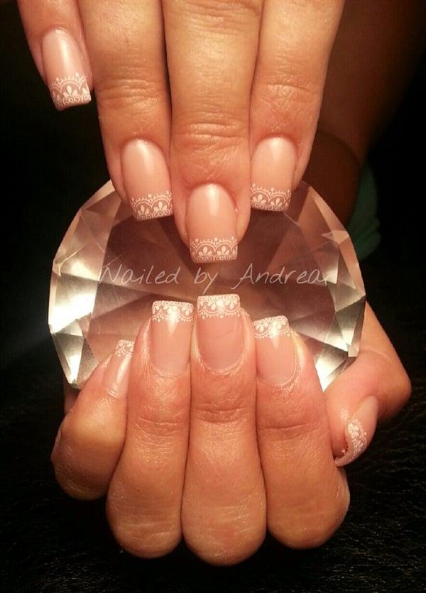 Day 151: Lace French Nail Art - - NAILS Magazine