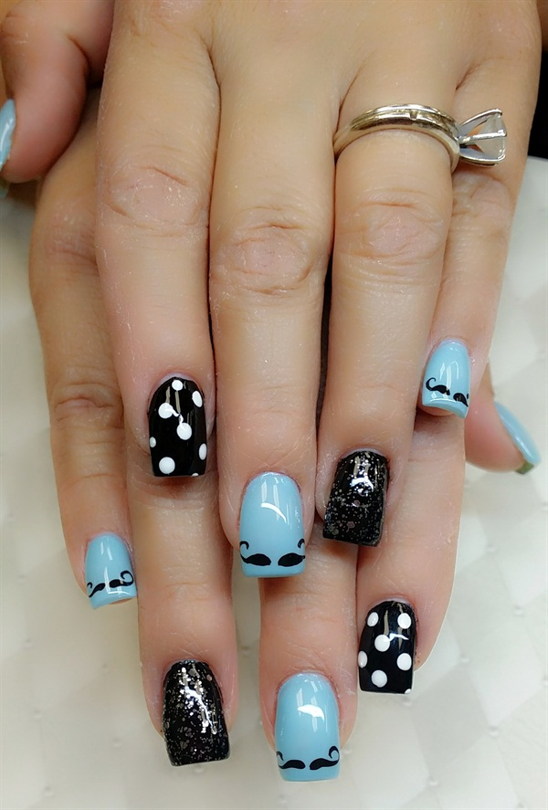 Day 166: Father\'s Day Nail Art - - NAILS Magazine