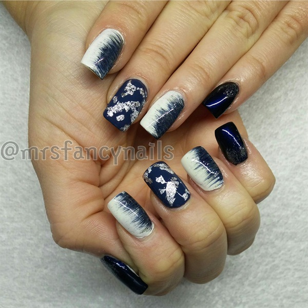 Day 18: Blue Fade & Foil Nail Art - - NAILS Magazine