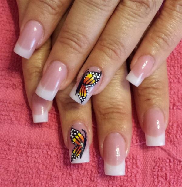 Day 20 Butterfly Amp Black Nail Art Nails Magazine