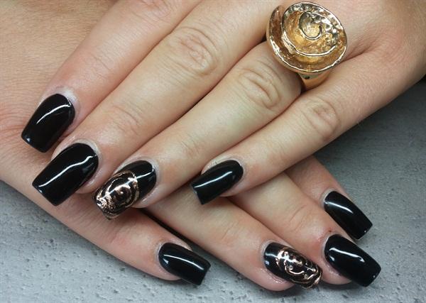 Black and white nail art for feet : Day black white nail art nails magazine