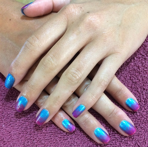 Day 217: Cool Ombre Nail Art - - NAILS Magazine
