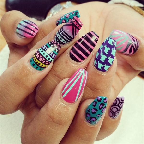 Day 219 Southwestern Nail Art Nails Magazine