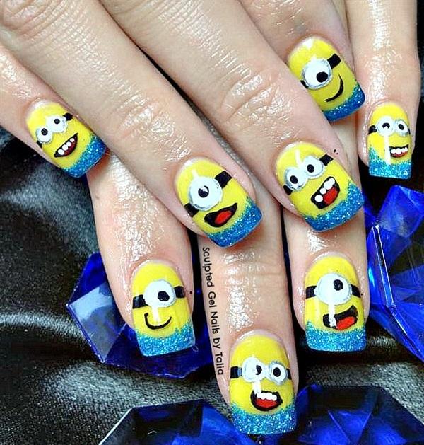 Day 225 minion nail art nails magazine talia scherer sculpted gel nails by talia lethbridge alberta canada prinsesfo Images