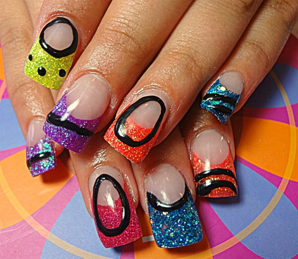 Day 234: Back to School Blooms Nail Art - - NAILS Magazine