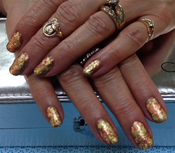 Day 241: Gold Foil Nail Art - - NAILS Magazine