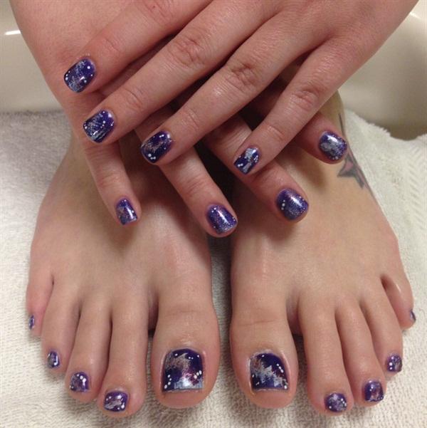 Day 254: Galaxy Hands & Toes Nail Art - - NAILS Magazine