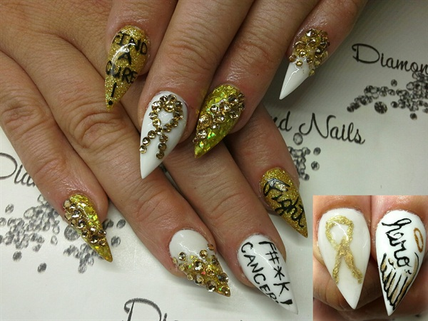 Day 255 Childhood Cancer Awareness Month Nail Art Nails Magazine