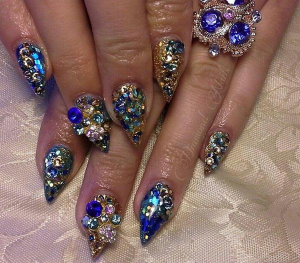 Day 260: Sapphire Nail Art - - NAILS Magazine