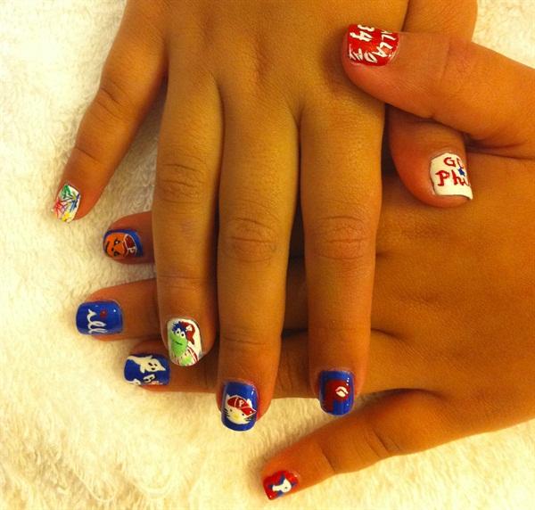 Day 274 Fall Sports Nail Art Nails Magazine
