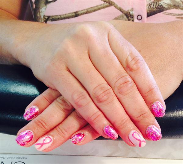 Day 281 Pink Ribbon Nail Art Nails Magazine