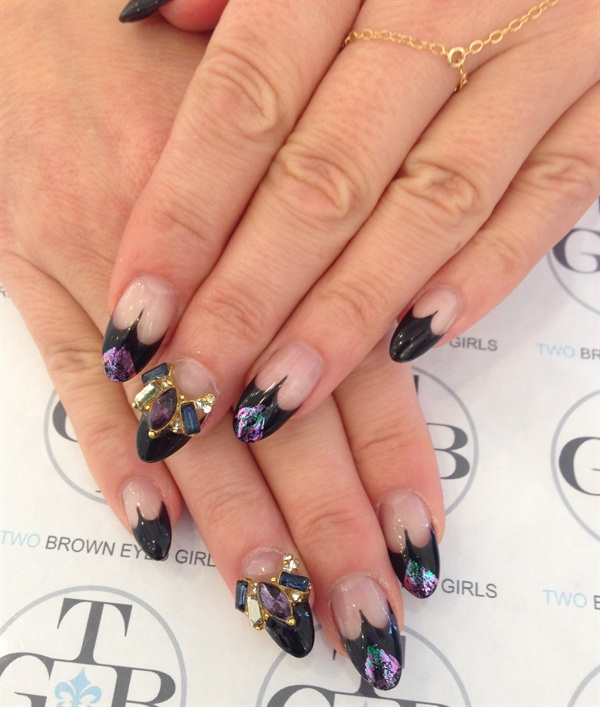 Day 289: Maleficent-Inspired Nail Art - - NAILS Magazine