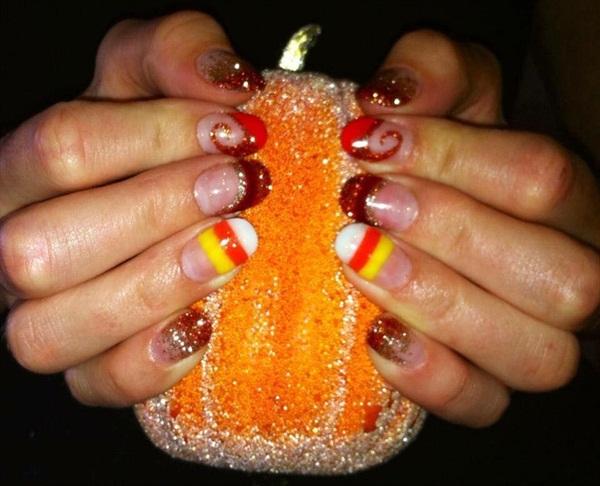 Day 290 Candy Corn Nail Art Nails Magazine
