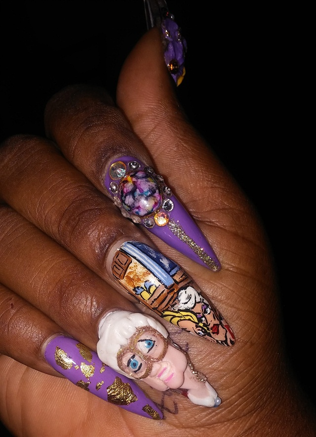 Day 31 Golden Girls Nail Art Nails Magazine