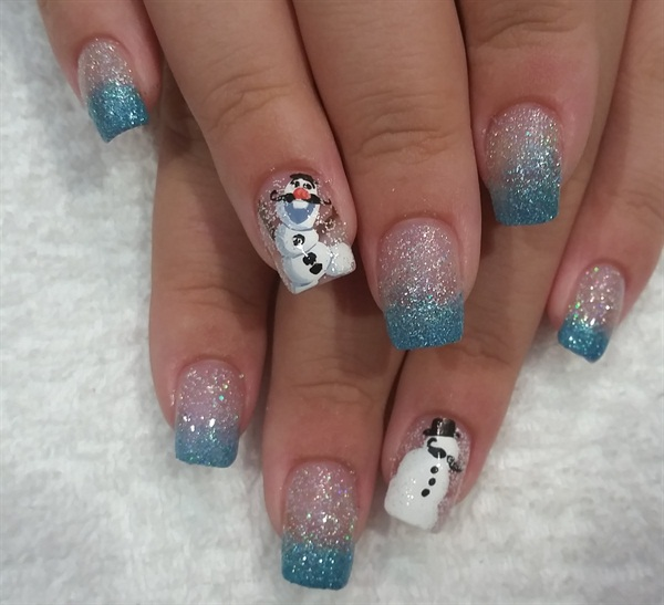 Day 316: Movember Snowman Nail Art - - NAILS Magazine