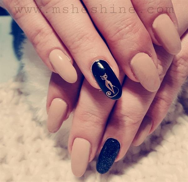 Q Riouser Q Riouser Nail Art: Day 316: Sleek & Minimal Nail Art
