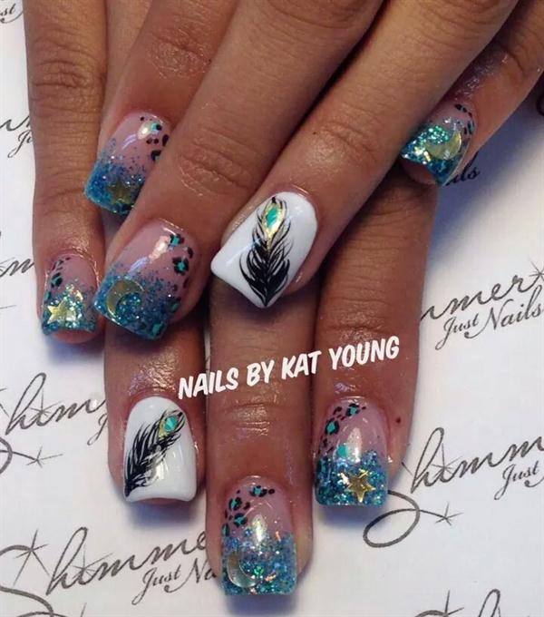 Day 321: Hand-Painted Mix Nail Art