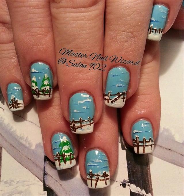 Day 340 Winter Wonderland Nail Art Nails Magazine