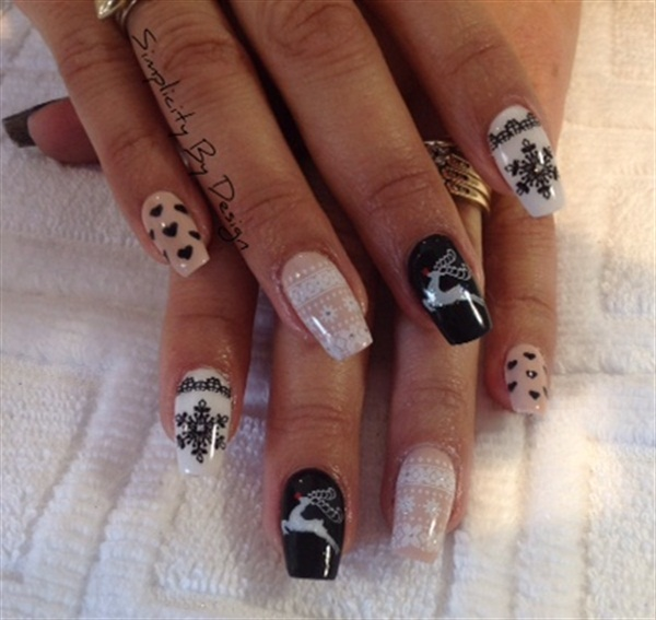Delee Dennison, Simplicity By Design, Terrace, British Columbia, Canada - Day 344: Candy Canes & Silver Lanes Nail Art - - NAILS Magazine