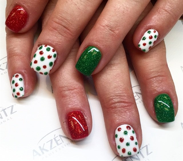Day 350 Red Green Gold Nail Art Nails Magazine
