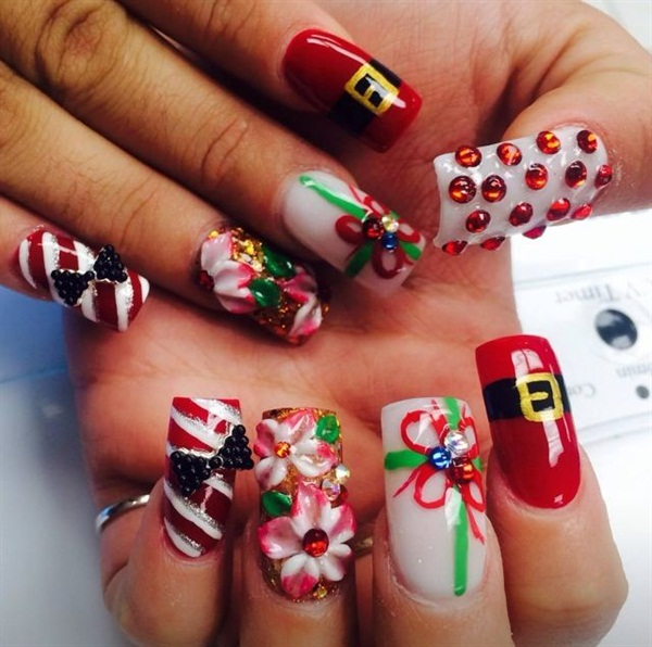 Day 356 Acrylic Christmas Nail Art Nails Magazine