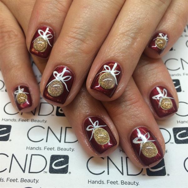 Day 359 Merry Christmas Nail Art