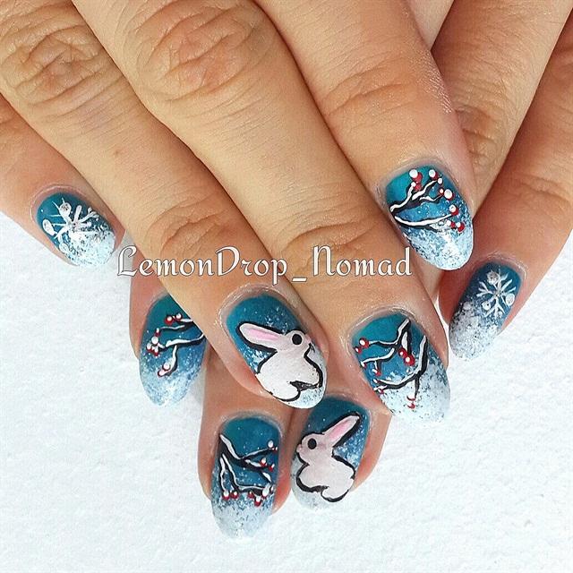 Day 363 Snow Bunny Nail Art Nails Magazine