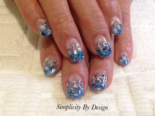 Delee Dennison, Simplicity By Design, Terrace, British Columbia, Canada - Day 365: New Year's Eve Nail Art - - NAILS Magazine