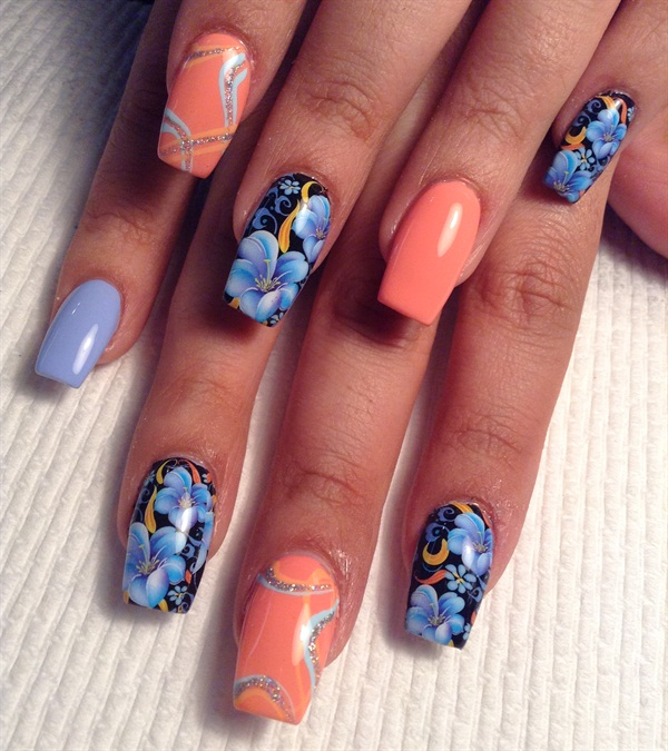 Day 4 flower tattoo nail art nails magazine prinsesfo Image collections