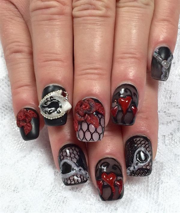 Day 46 50 Shades Of Grey Nail Art Nails Magazine