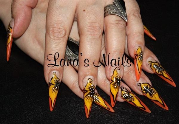 Day 47 Spring Stiletto Nail Art Nails Magazine