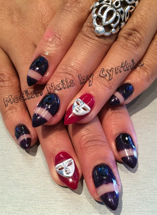 Day 48: Mardi Gras Nail Art - - NAILS Magazine