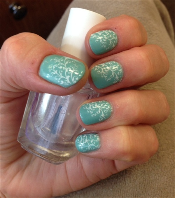 Day 56: Spring Sprigs Nail Art