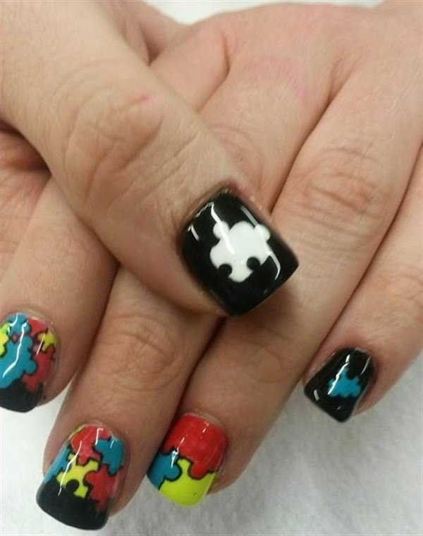 Day 57 puzzle piece nail art nails magazine oval eldridge central nails more ceres calif prinsesfo Image collections