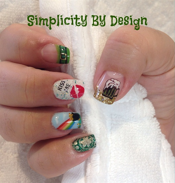 Day 76 St Patricks Day Nail Art Nails Magazine