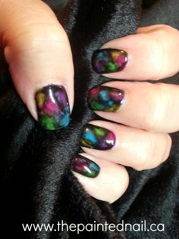 Day 85: Stained Glass Nail Art - - NAILS Magazine