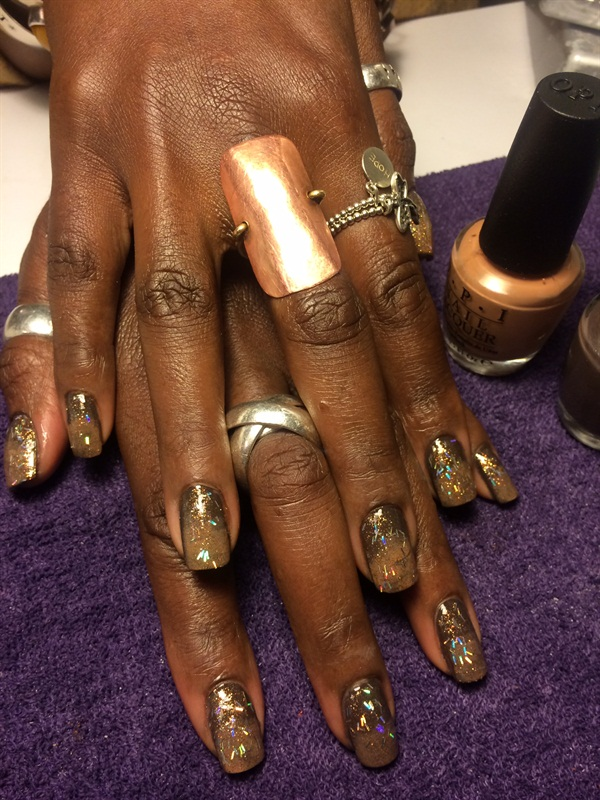 Day 88: Beautiful Bronze Nail Art - - NAILS Magazine