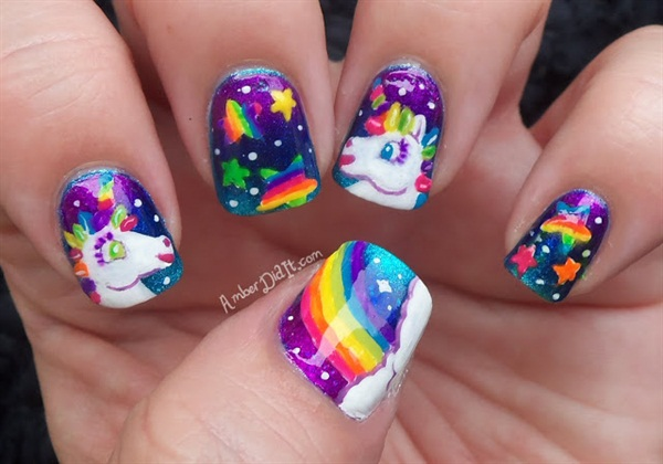 Amber Dunson, Destiny Day Spa, Bossier City, La. Keywords: unicorn nails - Day 91: Unicorn Nail Art - - NAILS Magazine