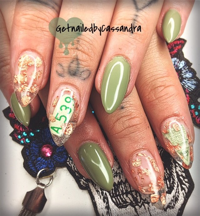 Day 97: Money and Flower Nail Art - - NAILS Magazine