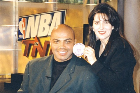 <p>Makeup artist Maxi Spisak often has little time to prepare Charles Barkley for camera as he rushes from the golf course onto the set.</p>